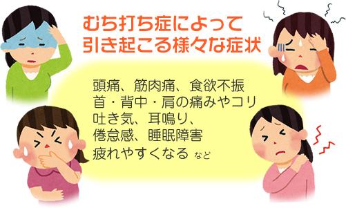 福岡交通事故治療症状